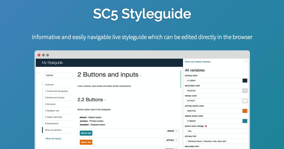 SC5 Style Guide Generator